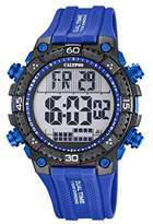 Calypso Men's Digital Watch with LCD Dial Digital Display and Blue Plastic Strap K5701/3