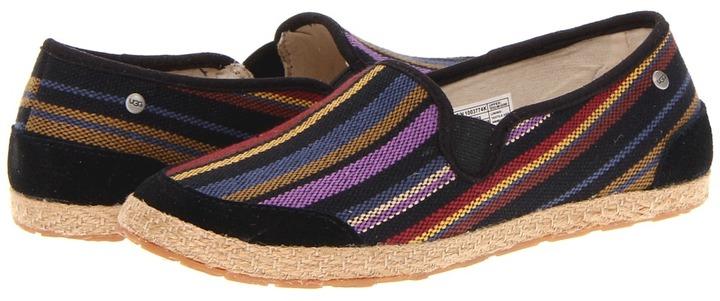 UGG Danalia (Little Kid/Big Kid) (Black Stripe) - Footwear