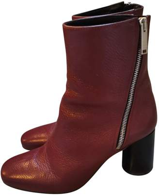 Claudie Pierlot Fall Winter 2019 Burgundy Leather Ankle boots