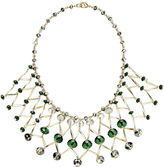INC International Concepts INC International Concepts, 14k Gold-Plated Green Rosary Bead Bib Necklace