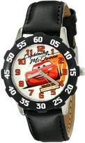 Disney Kids' W001984 Cars Analog Watch With Synthetic Leather Strap