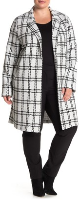 MelloDay Plaid Print Jacket (Plus Size)