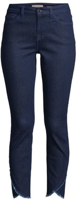 7 For All Mankind Jen7 By Scallop Hem Ankle Skinny Jeans