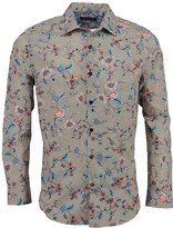 Lords Of Harlech Nigel In Bird Floral Canvas Tan