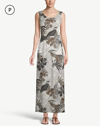 Chico's Petite Palm-Print Maxi Dress