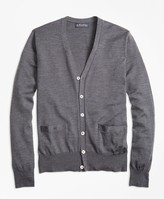 Brooks Brothers BrooksTech Merino Wool Button-Front Cardigan