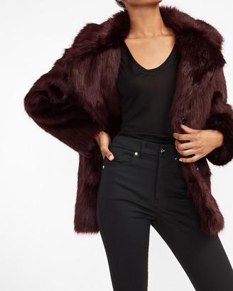 Express Cozy Faux Fur Coat