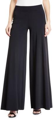 Chiara Boni Skyla Wide-Leg Jersey Coverup Pants