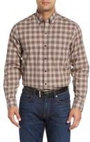 Cutter & Buck 'Ridge' Regular Fit Plaid Cotton Poplin Sport Shirt