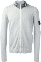 Stone Island funnel neck cardigan - men - Cotton/Polyamide - L