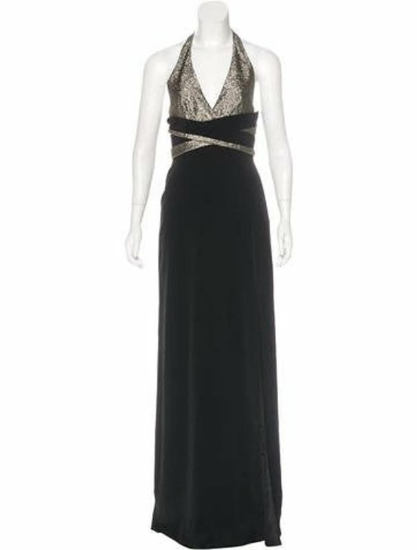 Lanvin Halter Evening Dress w/ Tags Metallic