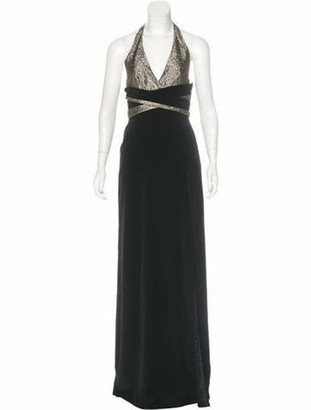 Lanvin Halter Evening Dress w/ Tags Metallic