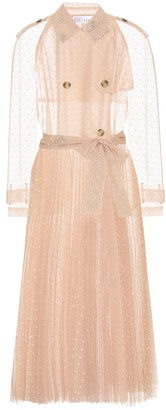 RED Valentino Pleated tulle trench coat