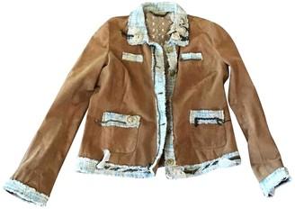 Le Sentier Camel Leather Jacket for Women