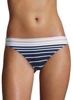 Michael Kors Striped Pull-On Bikini Bottom