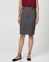 Le Château Tweed Viscose Blend Pencil Skirt