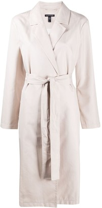 Eileen Fisher Tonal Twill Belted Trench