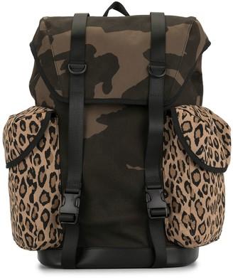 Ports V Camouflage Leopard Print Backpack