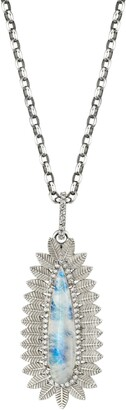 Sheryl Lowe Moonstone Pendant Necklace