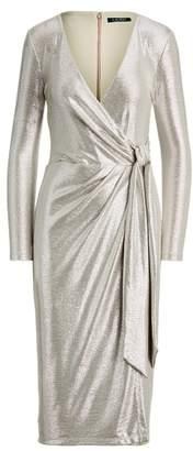Ralph Lauren Metallic Surplice Dress