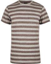 River Island MensGrey stripe ADPT T-shirt