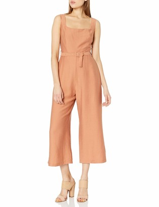 ASTR the Label Women's Sleevless Chasse Belted Jumpsuit