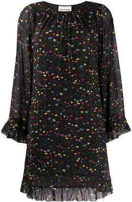 Semi-Couture Floral Print Mini Dress