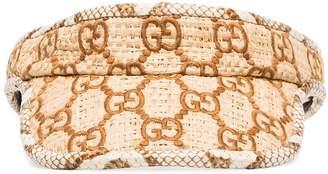 Gucci GG Supreme embroidered visor