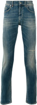 Dondup ripped detail tapered jeans - men - Cotton/Polyester - 33