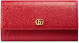 Gucci Leather continental wallet - women - Leather/Brass - One Size