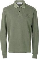 Stone Island long sleeve polo shirt