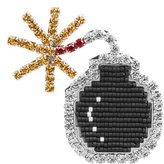 Shourouk Emojibling bomb brooch