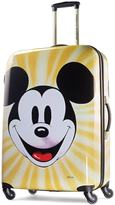 American Tourister Disney's Mickey Mouse Face 28-Inch Hardside Spinner Luggage by