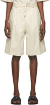 Jil Sander Off-White Pleated Shorts