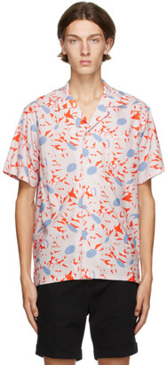 Bather Orange Flowers Camp Shirt