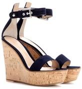 Gianvito Rossi Camdeni Suede Wedge Sandals