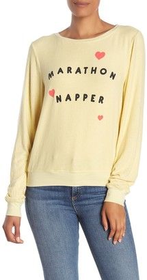 Wildfox Couture Marathon Napper Baggy Beach Pullover