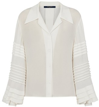 Louis Vuitton Button-Up Blouse With Intricate Sleeves