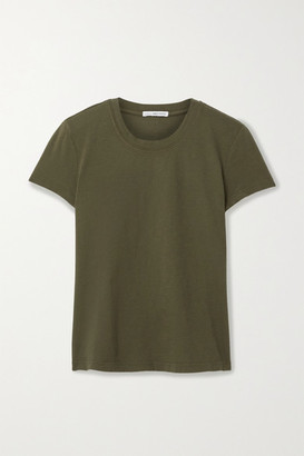 James Perse Vintage Boy Cotton-jersey T-shirt - Army green