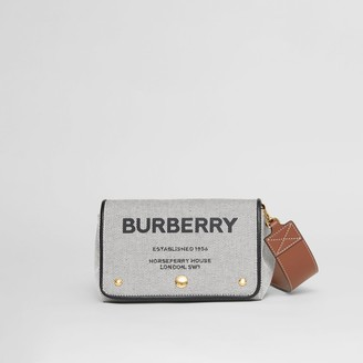 Burberry Small Horseferry Print Cotton Canvas Crossbody Bag