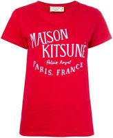 MAISON KITSUNÉ logo print T-shirt - women - Cotton - XS