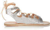 Ancient Greek Sandals Antigone glittered leather sandals