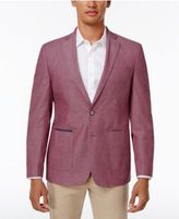 Tallia Men's Big & Tall Slim-Fit Red/Gray Seersucker Sport Coat