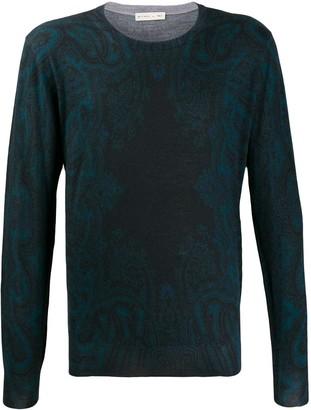 Etro faded paisley print sweatshirt