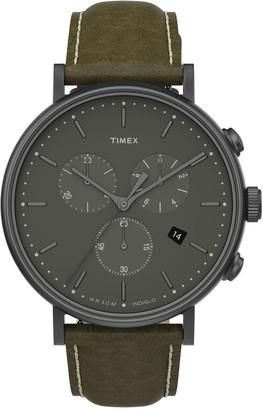 Timex Men's Fairfield Chronograph Strap Watch, 41mm