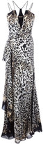 Roberto Cavalli leopard print long dress - women - Silk - 42