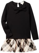 Kate Spade Drop Waist Plaid Dress (Toddler & Little Girls)