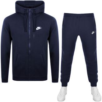 Nike Standard Fit Logo Tracksuit Navy