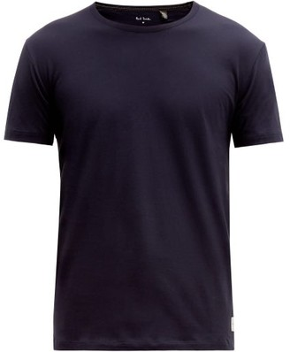 Paul Smith Contrast-stitch Cotton T-shirt - Mens - Navy