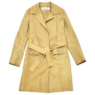 Christian Dior Beige Leather Coats
